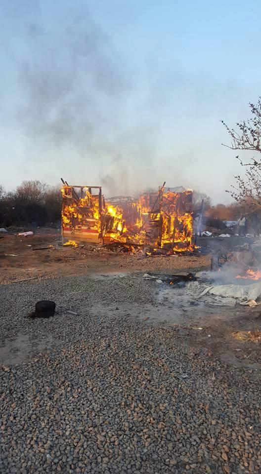 Calais Legal Centre Burns